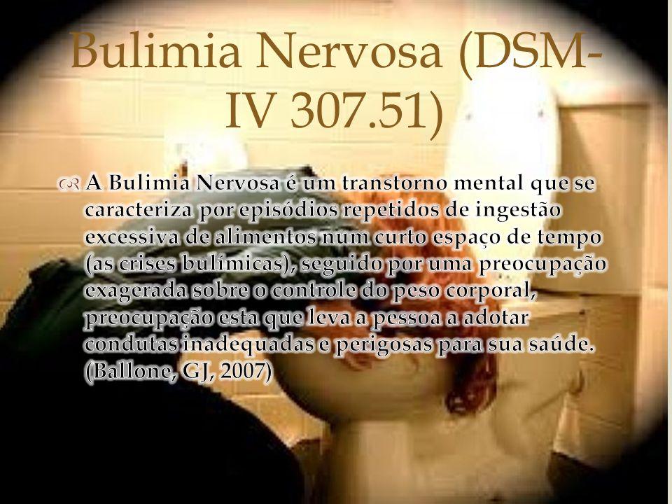 Bulimia Nervosa (DSM- IV 307.51)