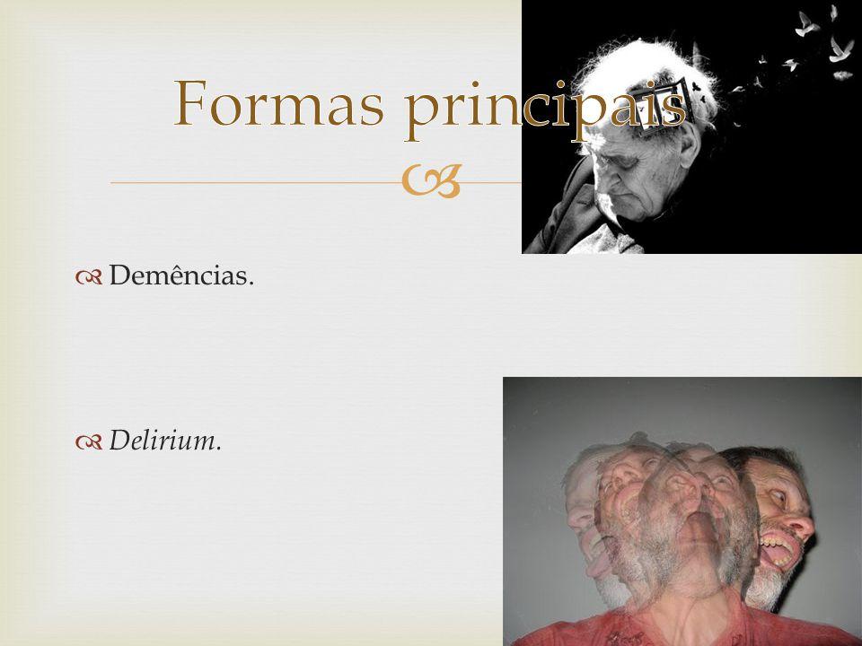 F00 a F03 (demências) F00: Demência na doença de Alzheimer F00.0 F00.1 F00.2 F00.9 F01: Demência vascular F01.0 F01.1 F01.2 F01.3 Transtornos mentais Orgânicos