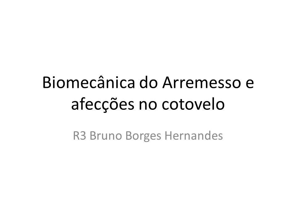 Biomecânica do Arremesso e afecções no cotovelo R3 Bruno Borges Hernandes