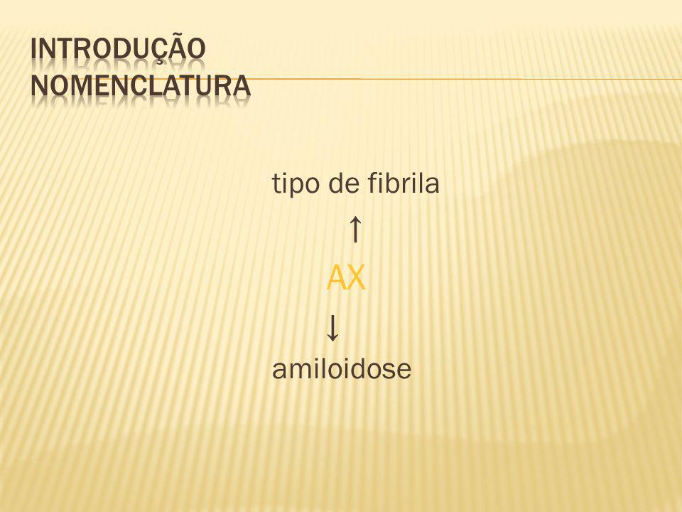 tipo de fibrila AX amiloidose
