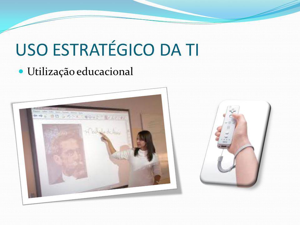 USO ESTRATÉGICO DA TI Utilização educacional