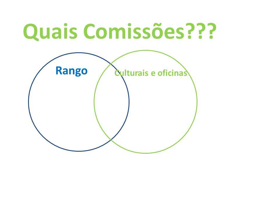 Quais Comissões??? Rango