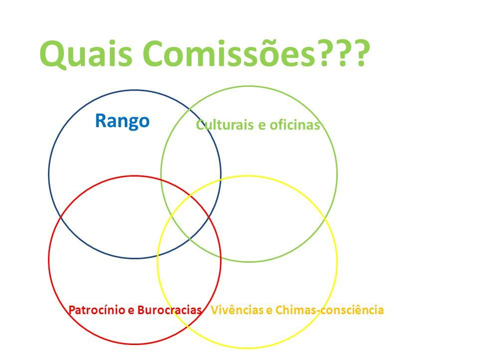 Quais Comissões??? Rango Patrocínio e Burocracias Culturais e oficinas