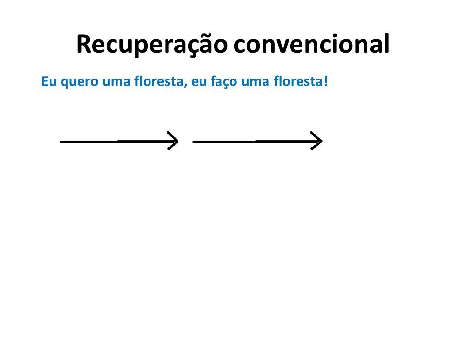 Recuperação convencional Eu quero uma floresta…