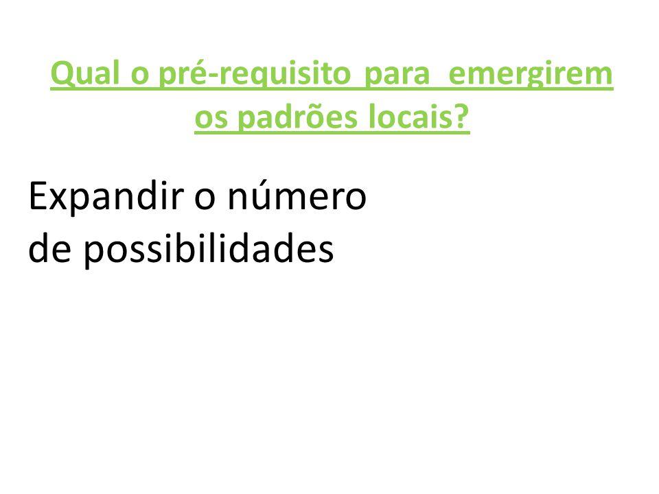 Qual o pré-requisito para emergirem os padrões locais?