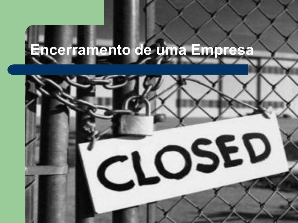 Encerramento de uma Empresa