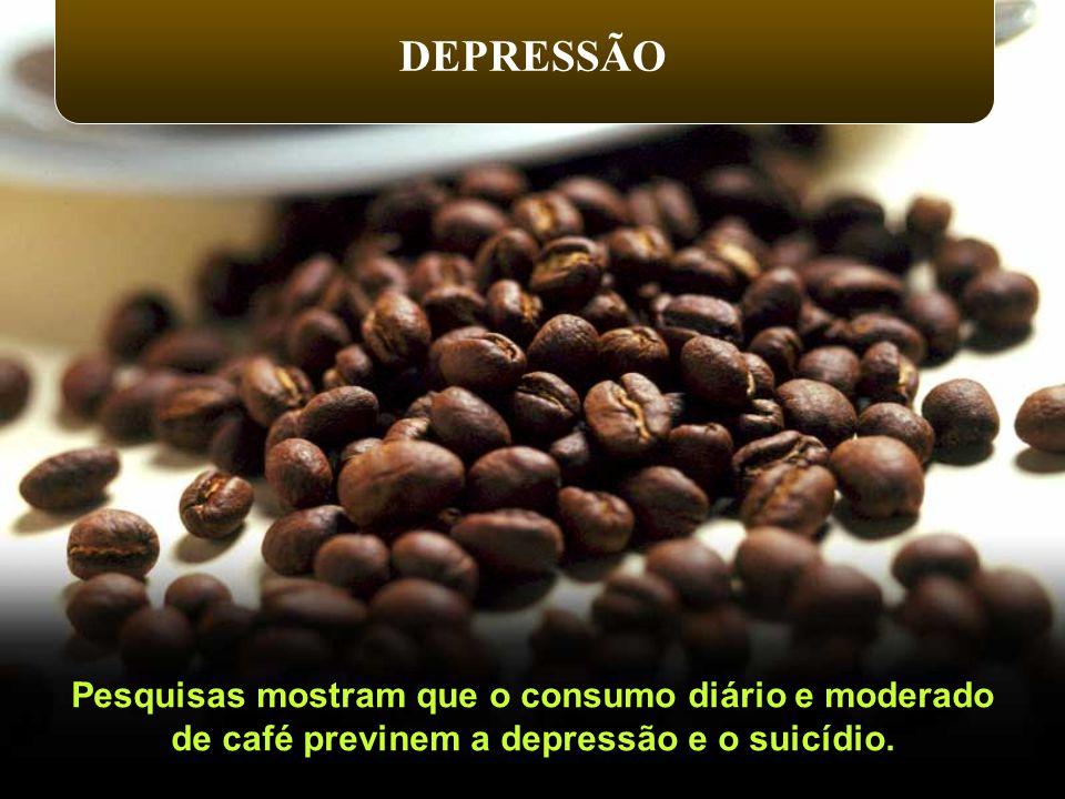 Pesquisas mostram que o consumo diário e moderado de café previnem a depressão e o suicídio. DEPRESSÃO