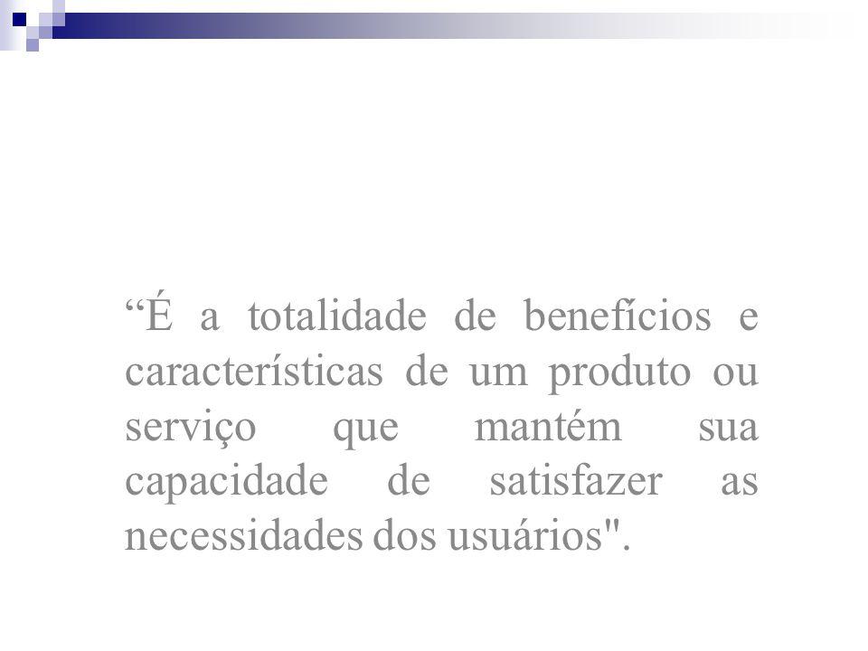 O QUE É QUALIDADE? Qualidade é a satisfação dos requisitos dos usuários. - P. Crosby; A Qualidade não é o que o fornecedor dá, mas o que o consumidor
