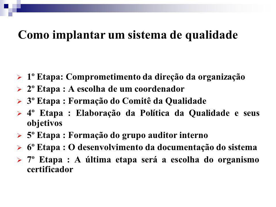 3) DIAGNOSE Tem por objetivo realizar um levantamento geral da empresa, no que se refere às necessidades de implantação do sistema de gestão da qualidade.