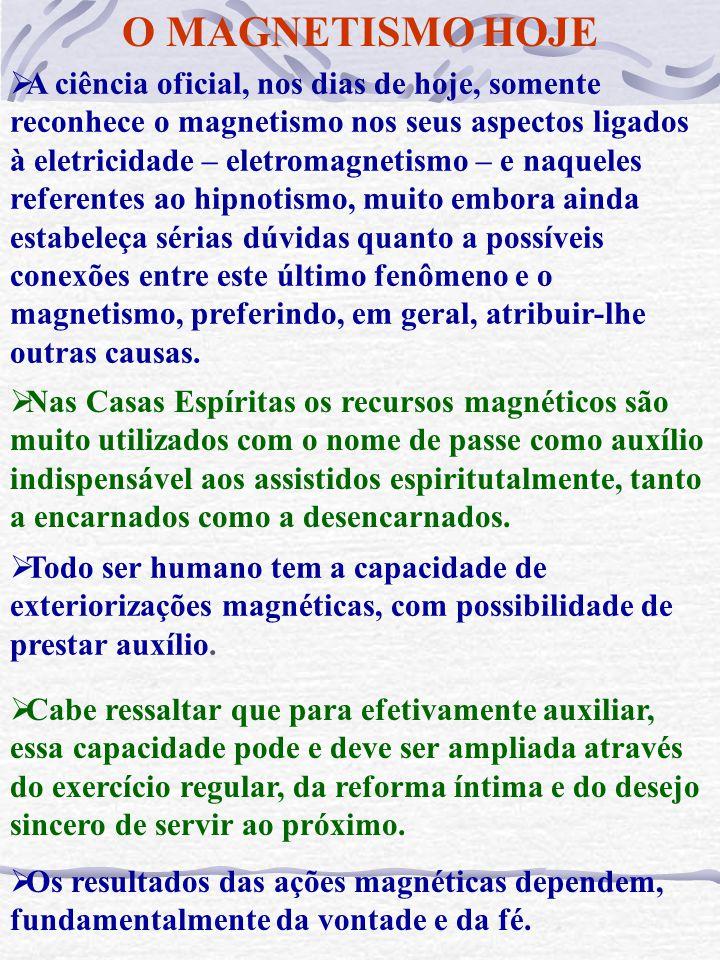 MAGNETISMO Definições do termo: A ciência o utiliza para designar certos efeitos produzidos pelas cargas elétricas quando em movimento. Como por exemp
