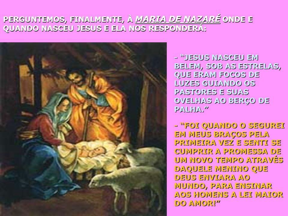 PERGUNTEMOS Á JUDAS QUANDO SE DEU O NASCIMENTO DE JESUS. ELE NOS RESPONDERÁ: - JESUS NASCEU NO INSTANTE EM QUE EU ASSISTIA AO SEU JULGAMENTO E À SUA C