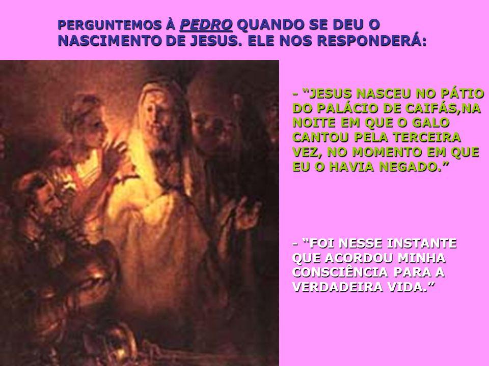 PERGUNTEMOS À FRANCISCO DE ASSIS O QUE ELE SABE SOBRE O NASCIMENTO DE JESUS. ELE NOS RESPONDERÁ: - ELE NASCEU NO DIA EM QUE, NA PRAÇA DE ASSIS, ENTREG