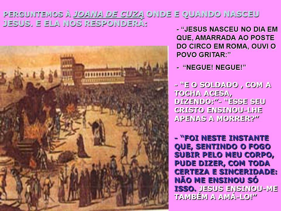 PERGUNTEMOS À PAULO DE TARSO QUANDO SE DEU O NASCIMENTO DE JESUS. ELE NOS RESPODERÁ: - JESUS NASCEU NA ESTRADA DE DAMASCO QUANDO, ENVOLVIDO POR INTENS