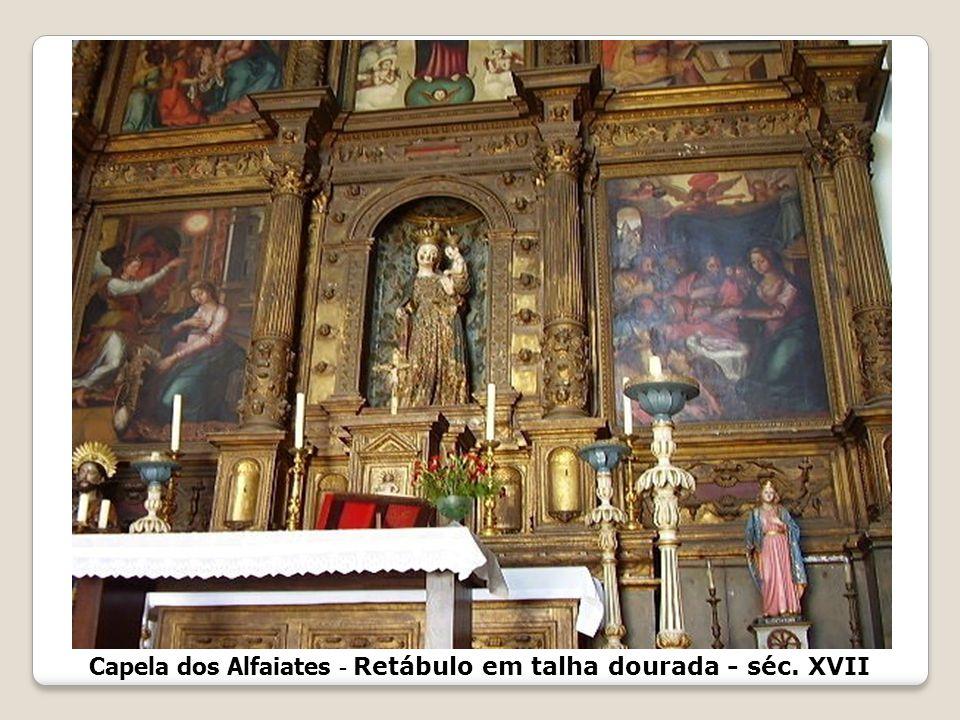 Capela dos Alfaiates - Retábulo em talha dourada - séc. XVII