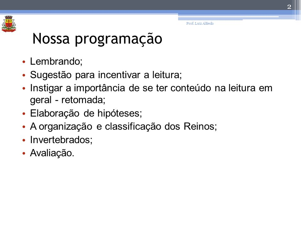 13 Prof. Luiz Alfredo