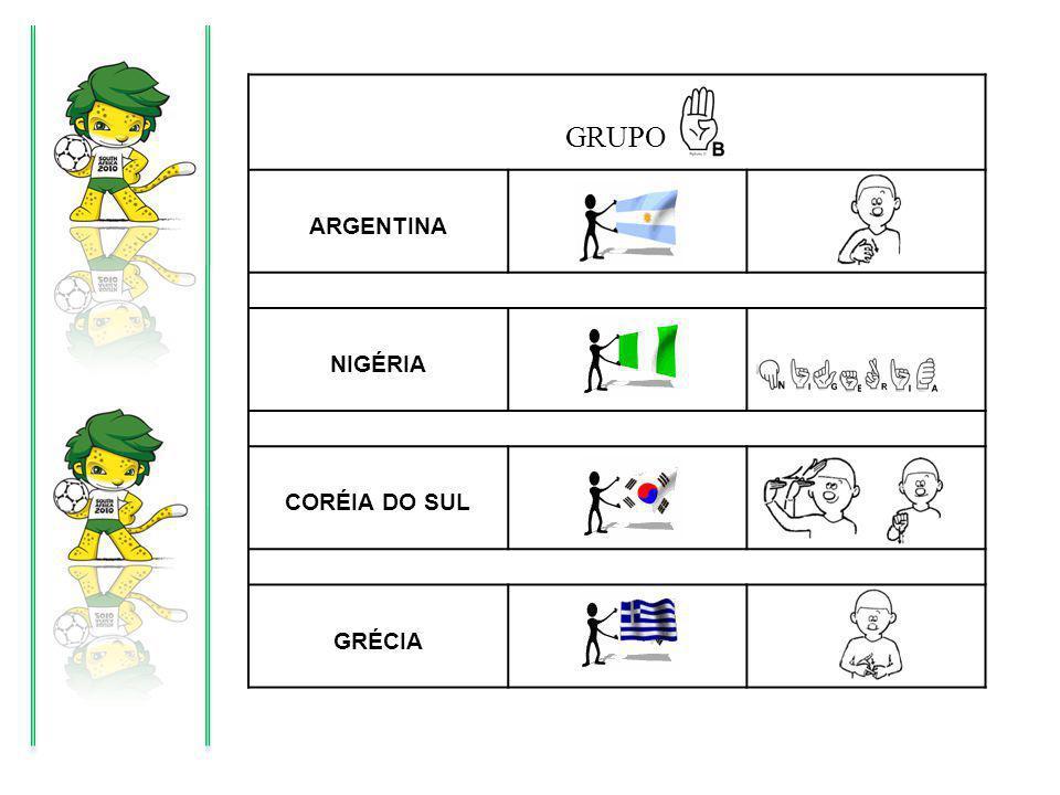 GRUPO ARGENTINA NIGÉRIA CORÉIA DO SUL GRÉCIA