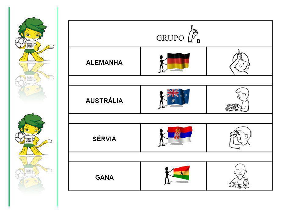 GRUPO ALEMANHA AUSTRÁLIA SÉRVIA GANA