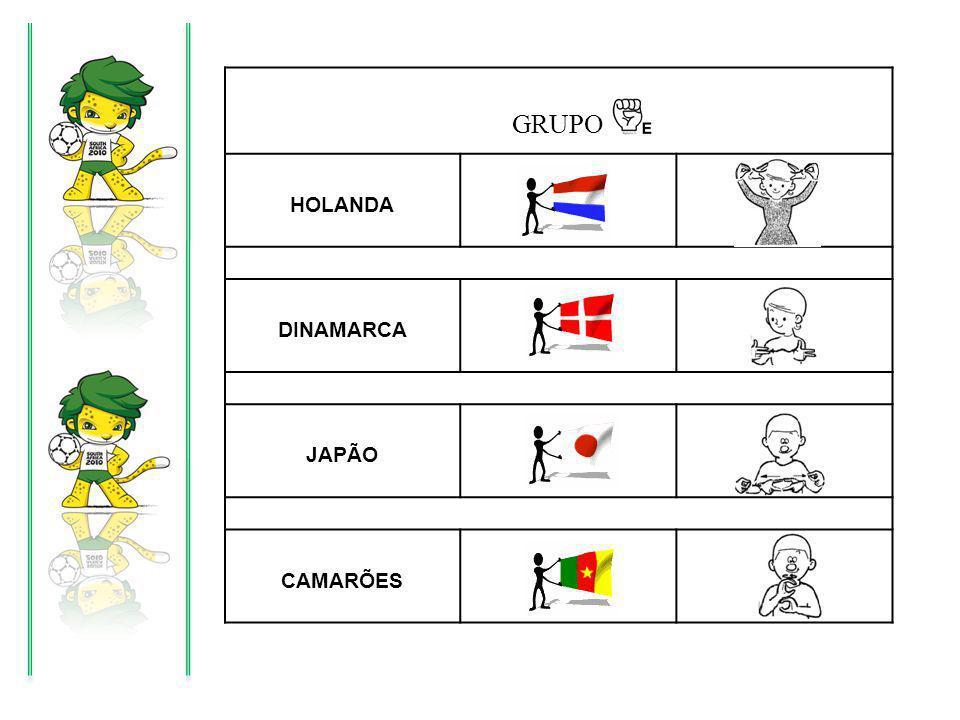 GRUPO HOLANDA DINAMARCA JAPÃO CAMARÕES