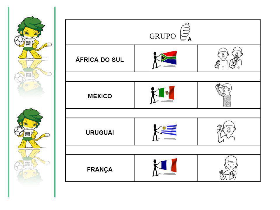 GRUPO ÁFRICA DO SUL MÉXICO URUGUAI FRANÇA