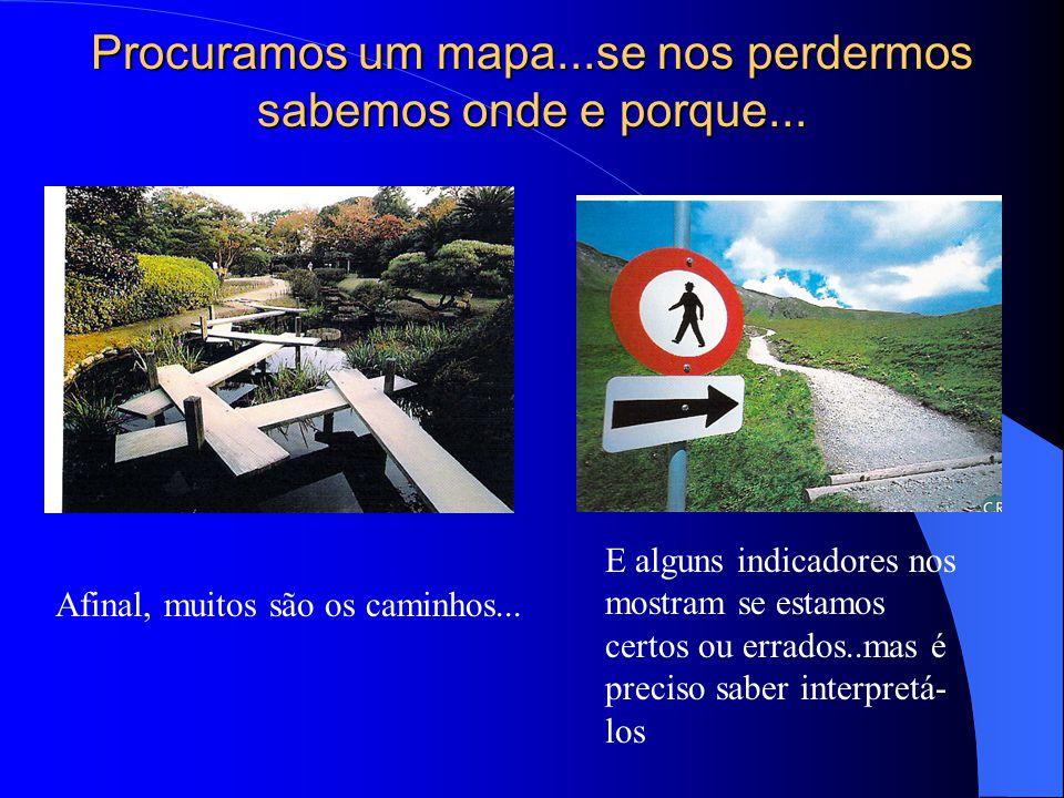 Procuramos um mapa...se nos perdermos sabemos onde e porque... Afinal, muitos são os caminhos... E alguns indicadores nos mostram se estamos certos ou