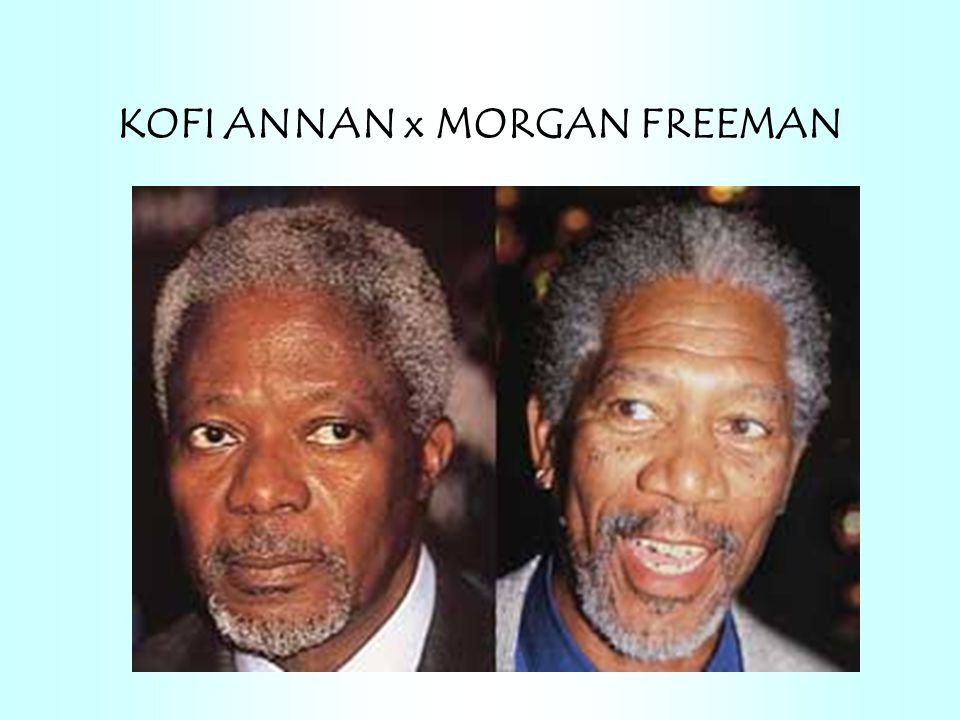 KOFI ANNAN x MORGAN FREEMAN