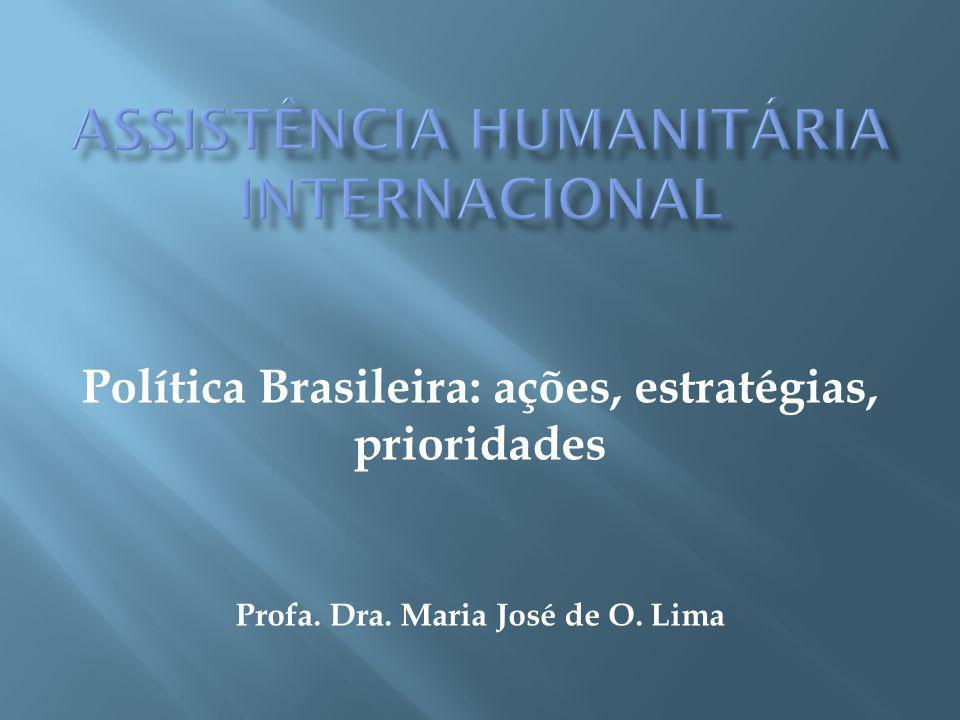 Política Brasileira: ações, estratégias, prioridades Profa. Dra. Maria José de O. Lima