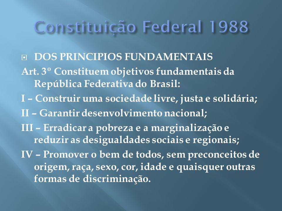 DOS PRINCIPIOS FUNDAMENTAIS Art.