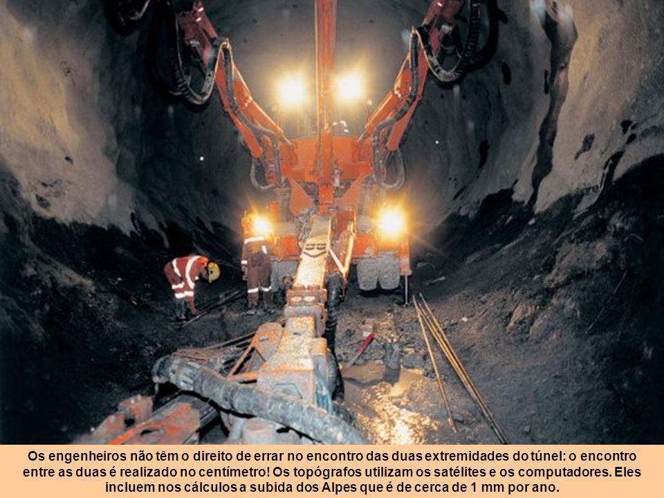Trabalho de risco No século XIX, na construção de túneis havia dezenas de mortos por km. Mesmo no túnel sob o Canal da Mancha, embora trabalhado no ca