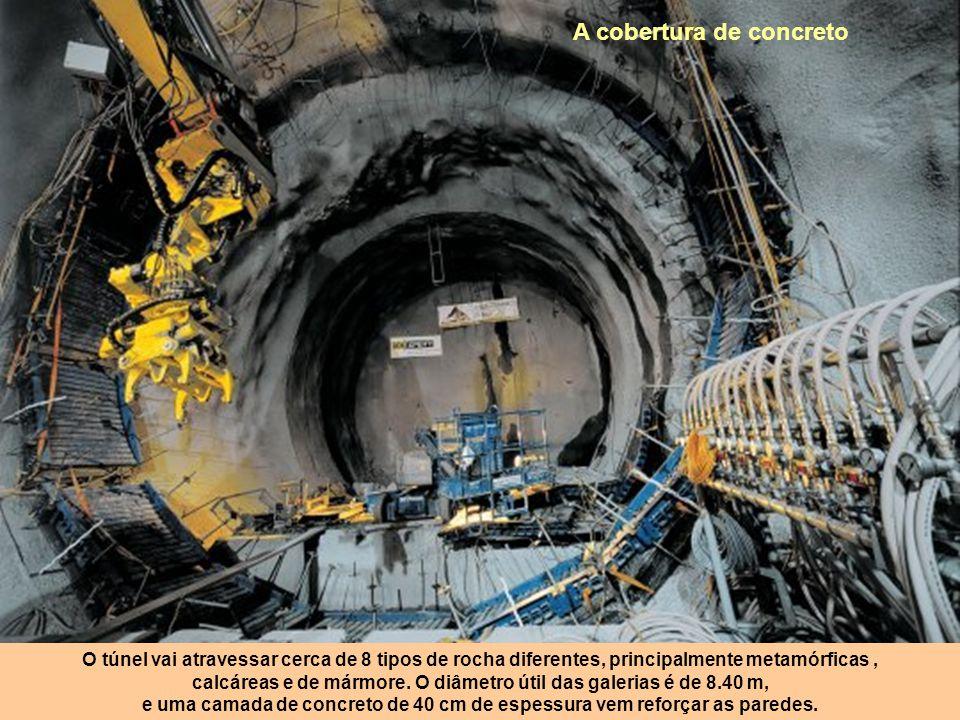 Os engenheiros não têm o direito de errar no encontro das duas extremidades do túnel: o encontro entre as duas é realizado no centímetro! Os topógrafo