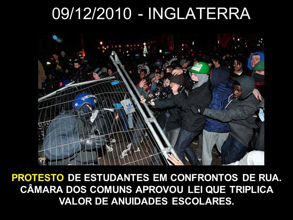 09/12/2010 - INGLATERRA PROTESTO DE ESTUDANTES EM CONFRONTOS DE RUA.