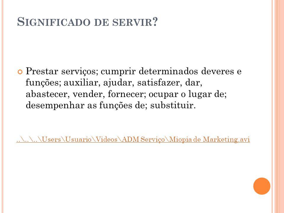 Prestar serviços; cumprir determinados deveres e funções; auxiliar, ajudar, satisfazer, dar, abastecer, vender, fornecer; ocupar o lugar de; desempenh