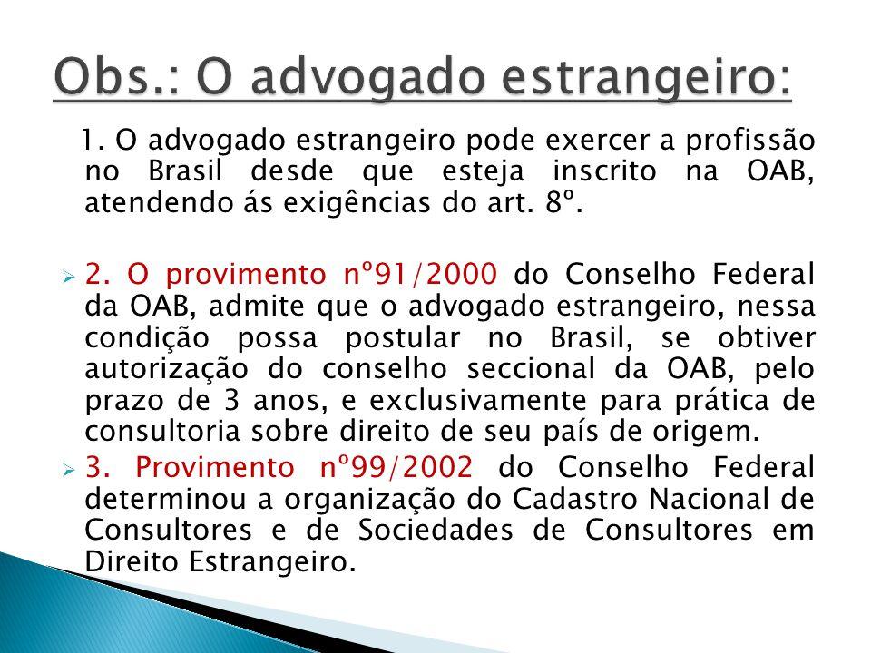1.CF arts. 131,132 e 134 cuidam da advocacia pública, que pode ser assim classificada: a.