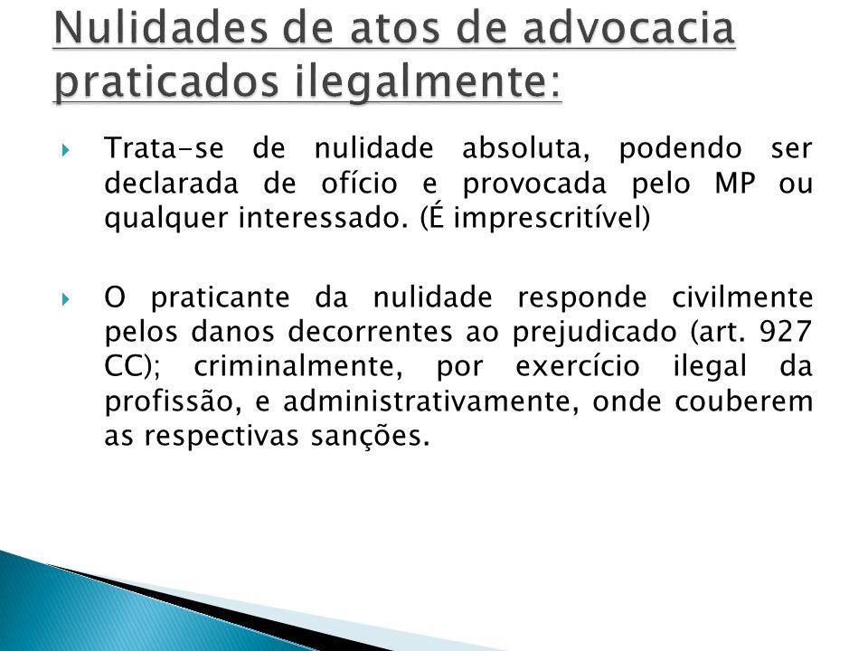 Art.5º- O advogado postula, em juízo ou fora dele, fazendo prova do mandato.