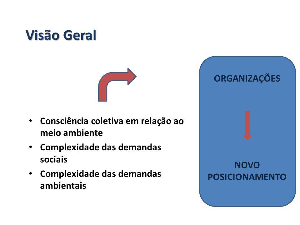 Visão Geral Consciência coletiva em relação ao meio ambiente Complexidade das demandas sociais Complexidade das demandas ambientais ORGANIZAÇÕES NOVO