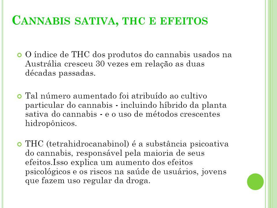 Debates recentes sobre mudanças propondo penalidades legais para o uso do cannabis exigem a análise crítica, baseada em três fatores: 1.