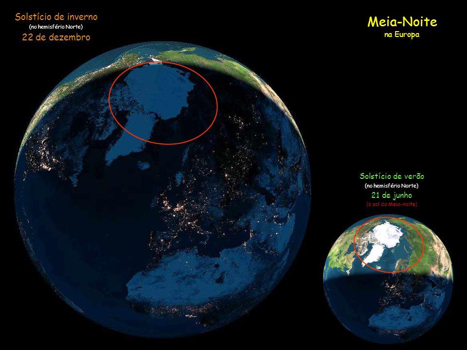 Vejam uma simulação com imagens de satélite de como o Sol atingiu a Terra em 22 de dezembro, (solstício de inverno e o dia mais curto do ano no hemisf