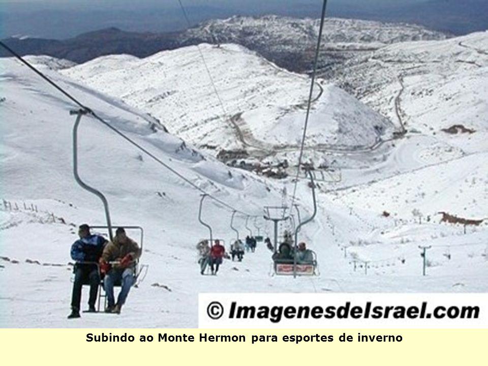 Subindo ao Monte Hermon para esportes de inverno