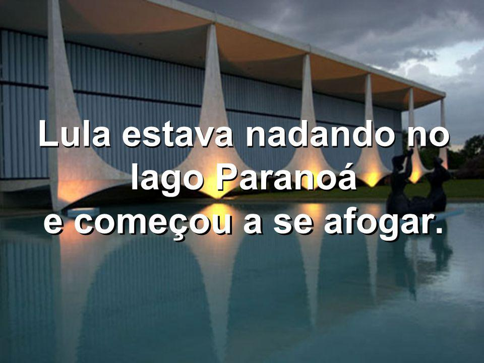 Lula estava nadando no lago Paranoá e começou a se afogar.