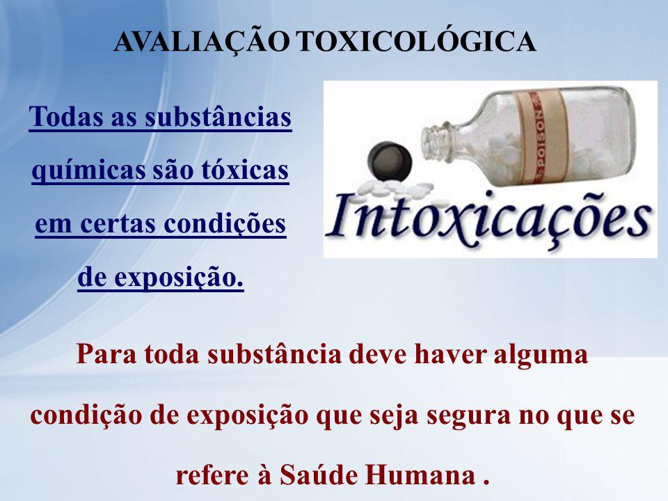 Todas as substâncias químicas são tóxicas em certas condições de exposição. Para toda substância deve haver alguma condição de exposição que seja segu