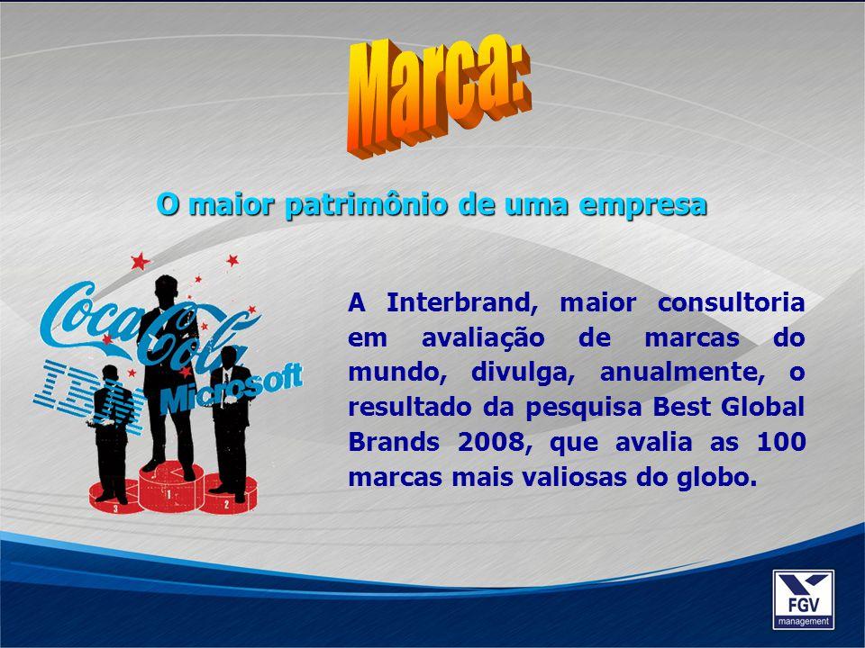 O maior patrimônio de uma empresa A Interbrand, maior consultoria em avaliação de marcas do mundo, divulga, anualmente, o resultado da pesquisa Best G