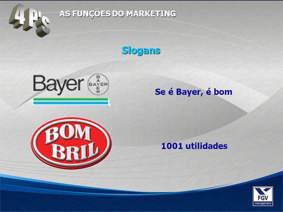 Se é Bayer, é bom 1001 utilidades Slogans AS FUNÇÕES DO MARKETING