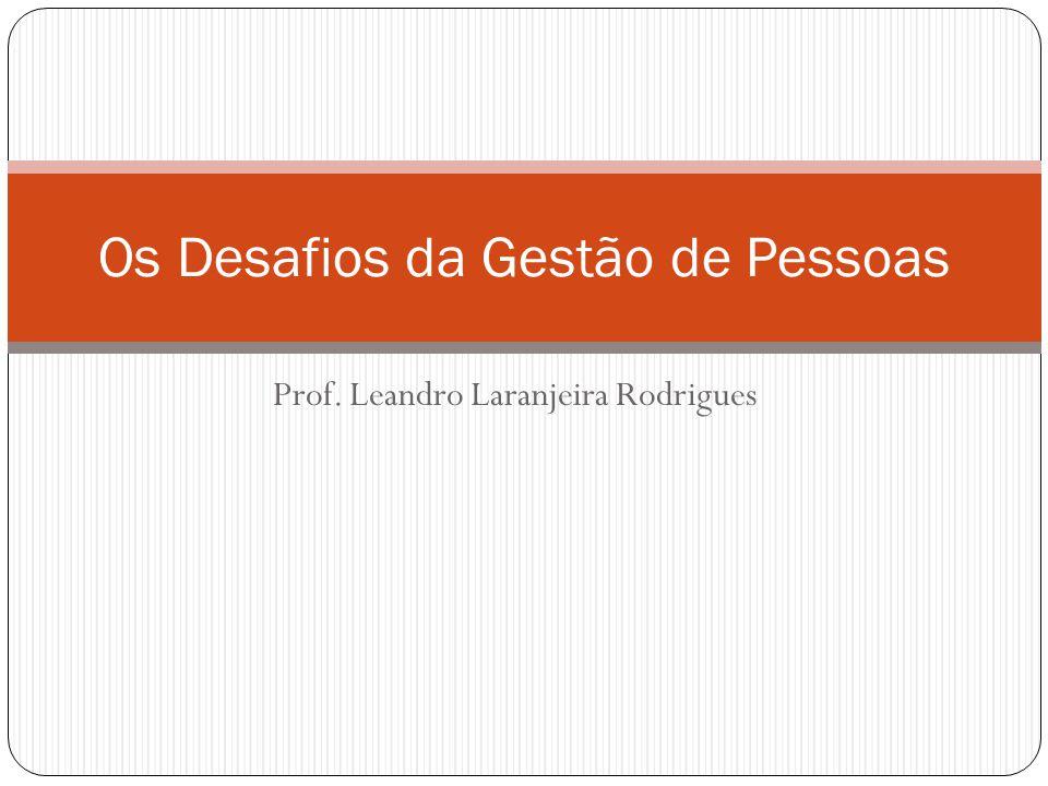 Prof. Leandro Laranjeira Rodrigues Os Desafios da Gestão de Pessoas