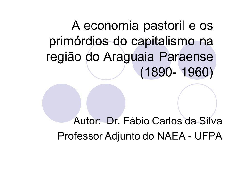 A economia pastoril e os primórdios do capitalismo na região do Araguaia Paraense (1890- 1960) Autor: Dr.