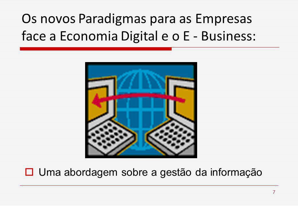 Os novos Paradigmas para as Empresas face a Economia Digital e o E - Business: 7 Uma abordagem sobre a gestão da informação 7