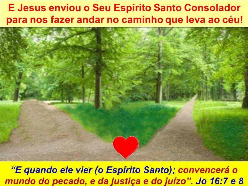 E Jesus enviou o Seu Espírito Santo Consolador para nos fazer andar no caminho que leva ao céu! SOMENTE O ESPÍRITO SANTO DE DEUS CONVENCE O HOMEM DO P