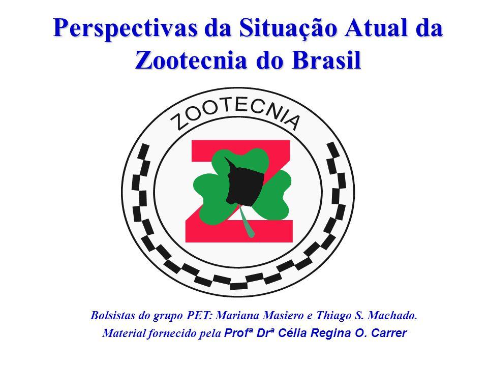 Perspectivas da Situação Atual da Zootecnia do Brasil Bolsistas do grupo PET: Mariana Masiero e Thiago S.
