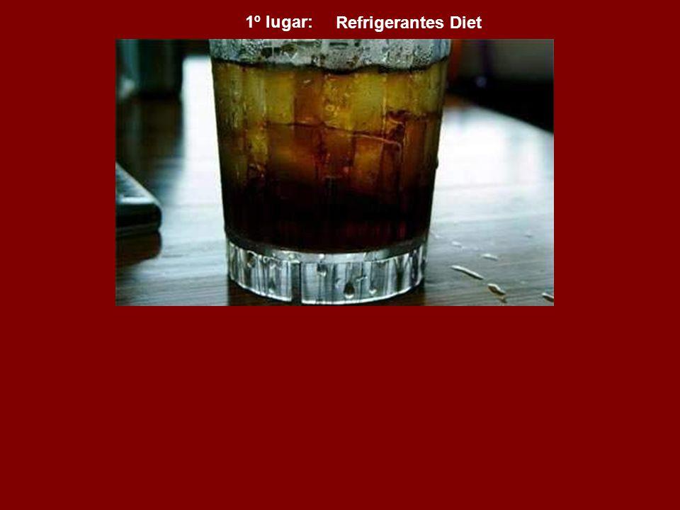 Refrigerantes Diet 1º lugar: