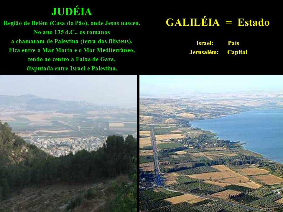 JUDÉIA Região de Belém (Casa do Pão), onde Jesus nasceu.