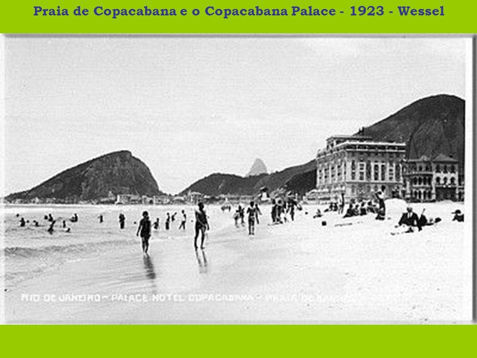 Praia de Copacabana e o Copacabana Palace - 1923 - Wessel