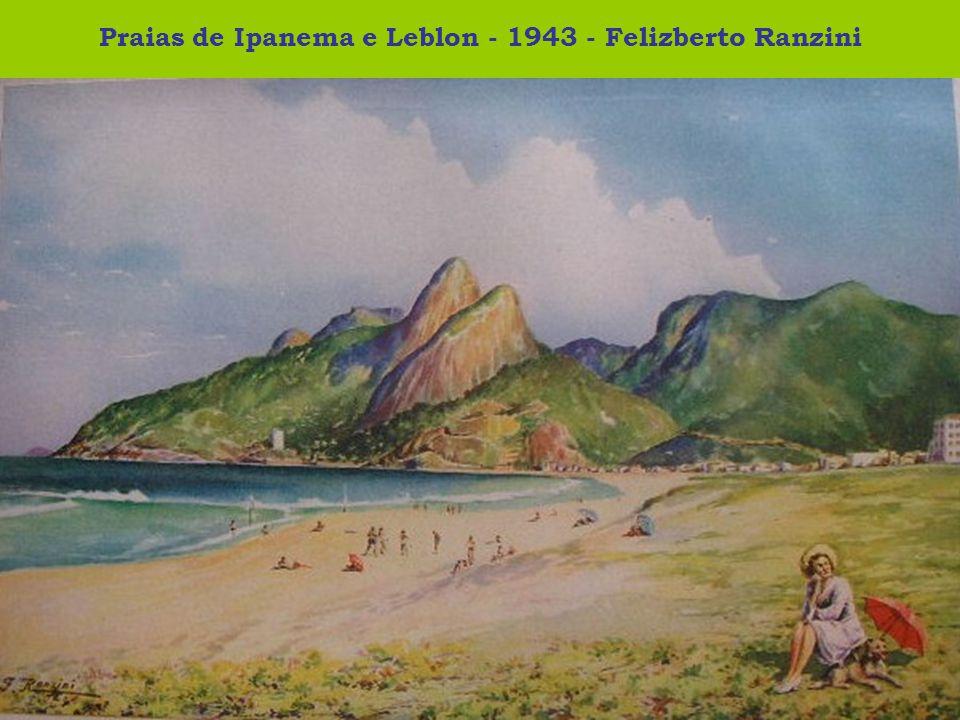 Praias de Ipanema e Leblon - 1943 - Felizberto Ranzini